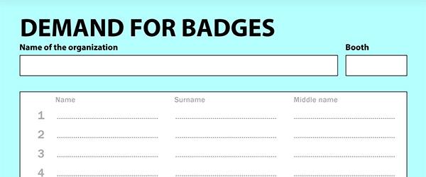 Demand for badges