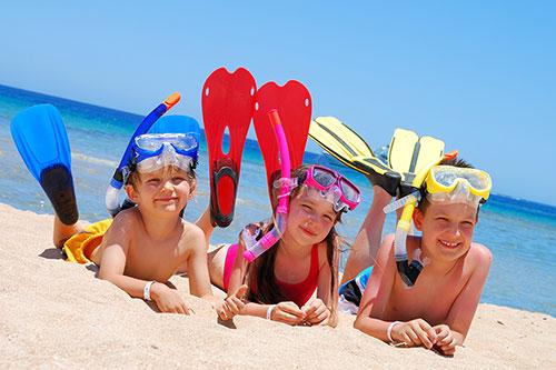 Детское снаряжение для подводного плавания