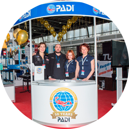 PADI at the Moscow Dive Show 2016