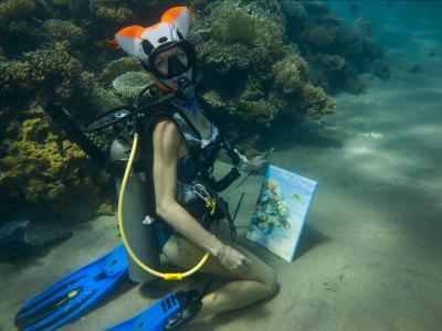 Подводная живопись Ольги Белкиной