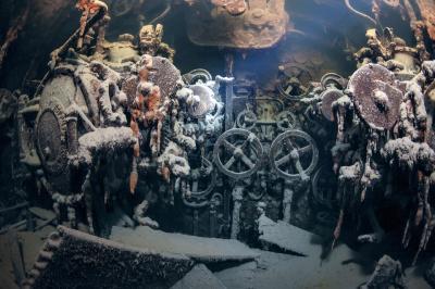 Съемка затонувших кораблей на больших глубинах