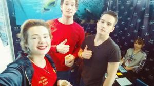 Отличное настоение на Moscow Dive Show 2016