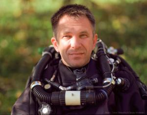 Alex Vazhinsky, underwater cave explorer, inventor and developer of specialized equipment for deep diving cave will be the speaker on the Cave Diving conference on the Moscow Dive Show 2017